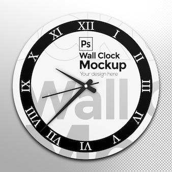 Okrągły zegar ścienny makieta widok z przodu