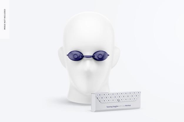 Okulary do opalania z makietą obudowy