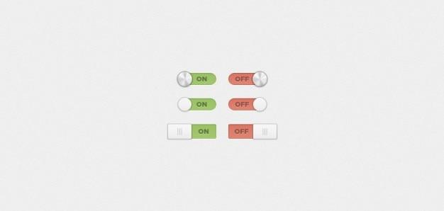 On / off przełączniki i przełącza (psd)