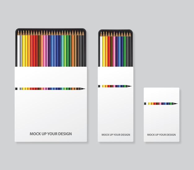Opakowania z kolorowymi ołówkami