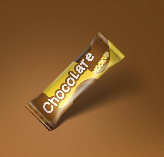 Opakowanie makiety opakowania czekolady