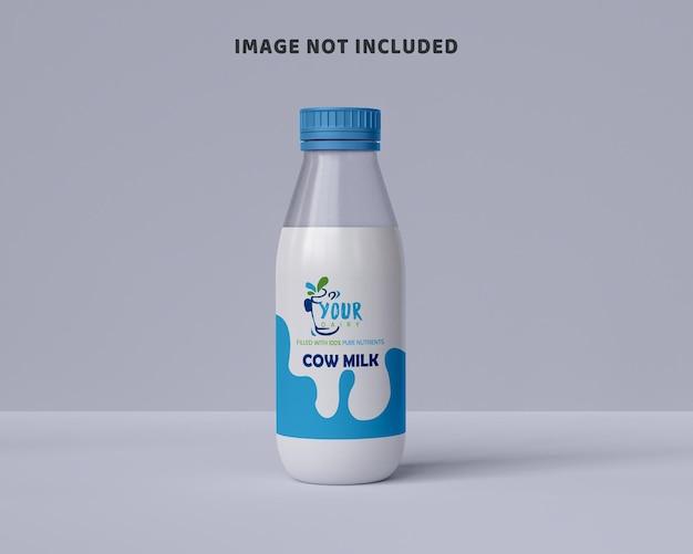Opakowanie mleka makieta szklistej butelki