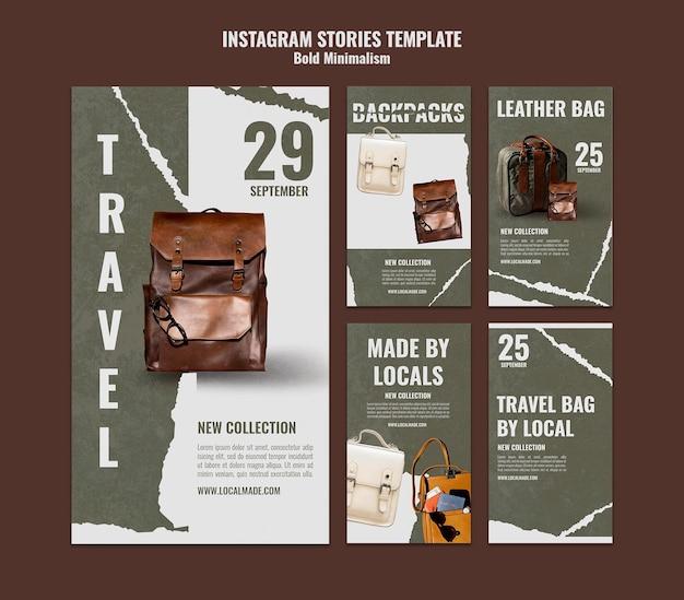Opowieści w mediach społecznościowych o torbie podróżnej