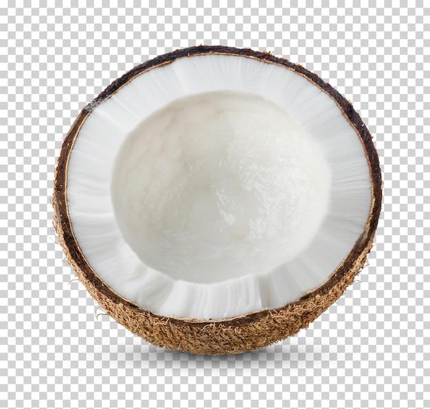Orzechy kokosowe na białym tle
