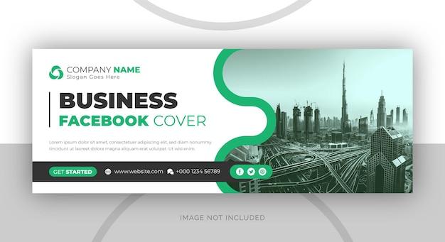 Oś czasu promocji marketingu cyfrowego firmy na facebooku i szablon okładki w mediach społecznościowych