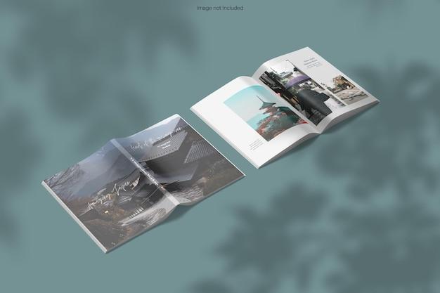 Otwarta i zamknięta makieta magazynu z cieniem