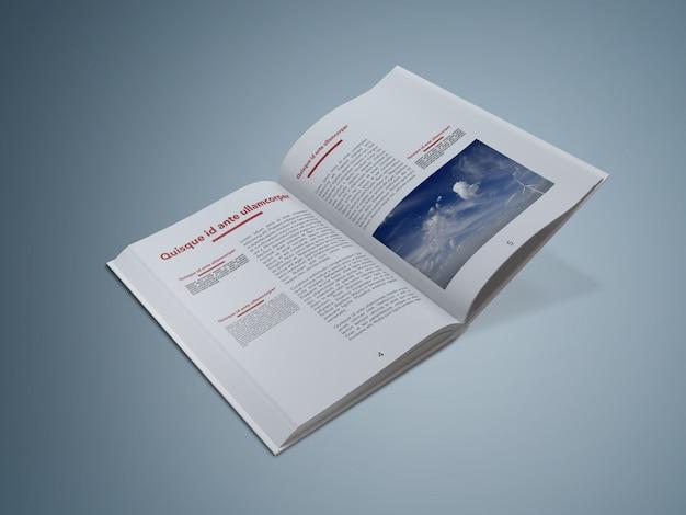 Otwarta książka makieta