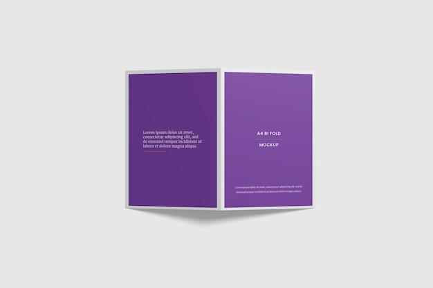 Otwarta makieta broszury bifold
