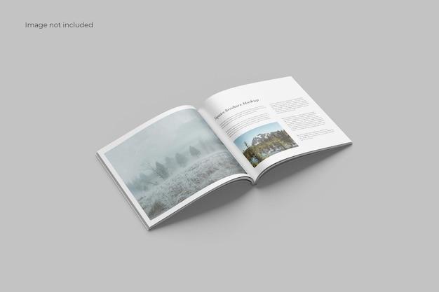 Otwarta makieta broszury kwadratowej