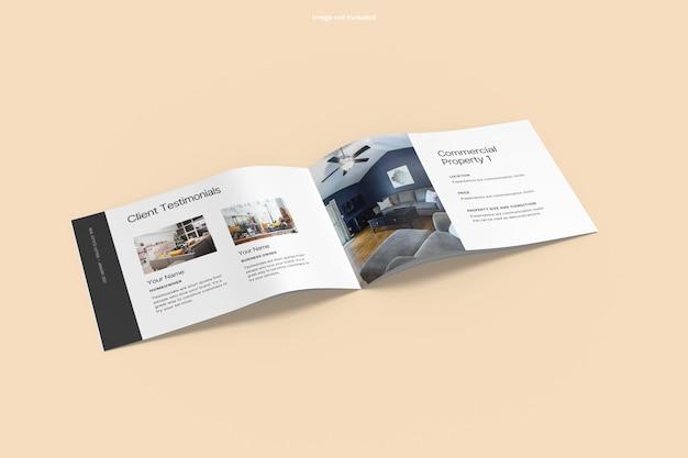 Otwarta makieta broszury