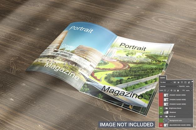 Otwarta makieta magazynu