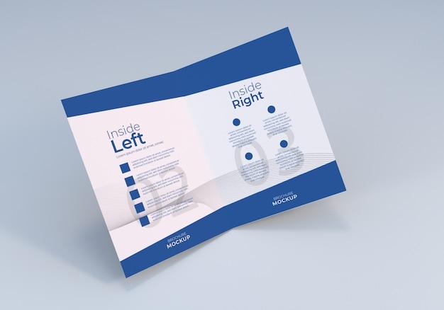 Otwarta strona makieta papieru bifold broszura