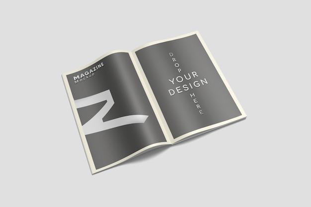 Otwarto makietę magazynu a4 na dużym kącie widzenia