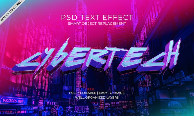 Otwarty efekt tekstu neonowego