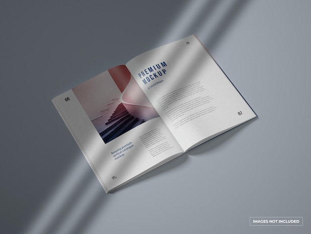 Otwórz katalog pionowy i makietę magazynu