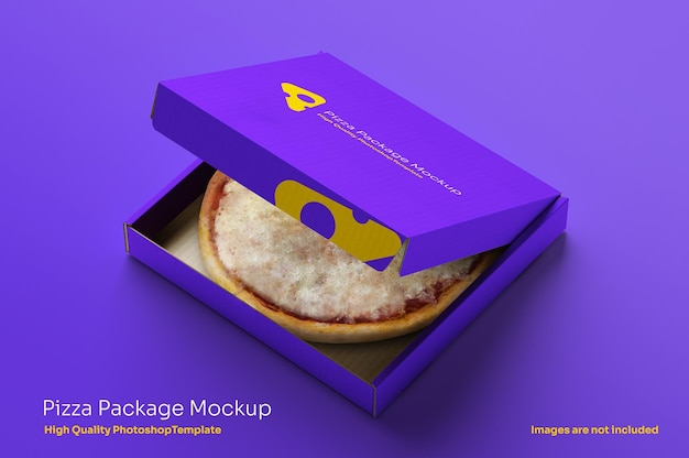 Otwórz pudełko na pizzę mocku