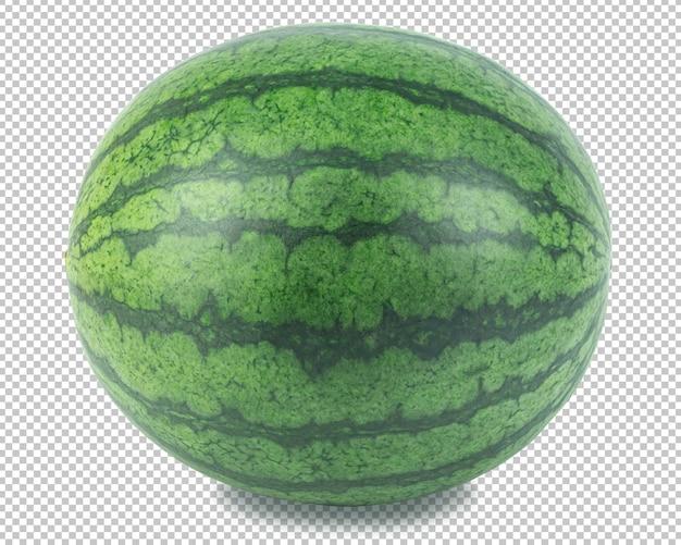 Owoc arbuza na przezroczystości na białym tle. owoce