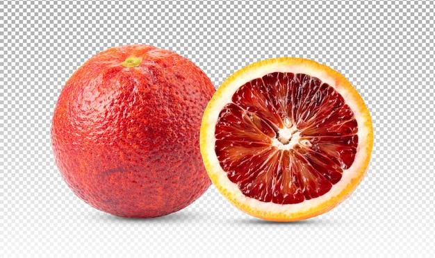 Owoce pomarańczy krwi na białym tle