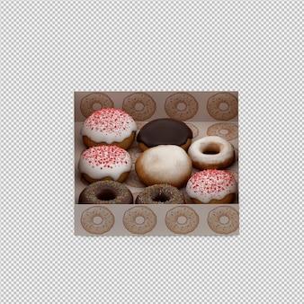 Pączki 3d renderowania odizolowane