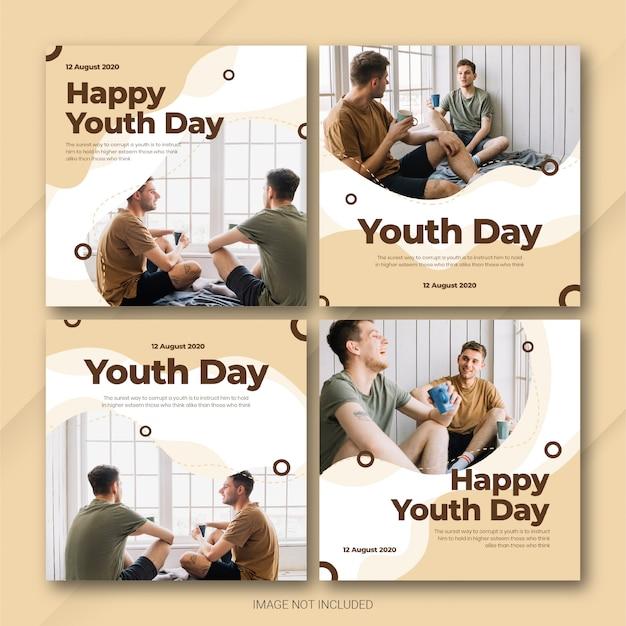 Pakiet instagram post na międzynarodowy dzień młodzieży