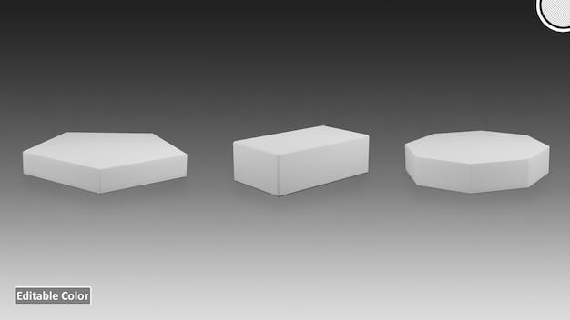 Pakiet na podium w różnych kształtach 3d premium szablon psd