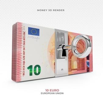 Pakiet pieniędzy 10 euro z zamkiem