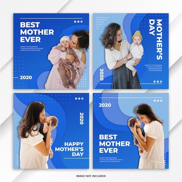 Pakiet post na instagramie szablon światowego dnia matki