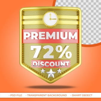 Pakiet premium 72 zniżki 3d złota tarcza