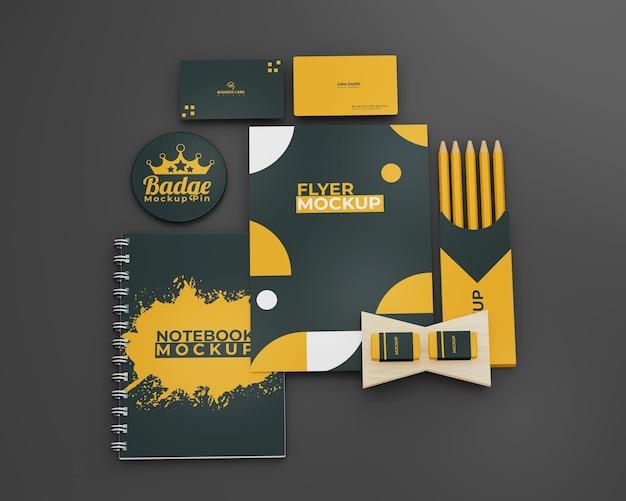 Papeteria biznesowa makieta projektu marki