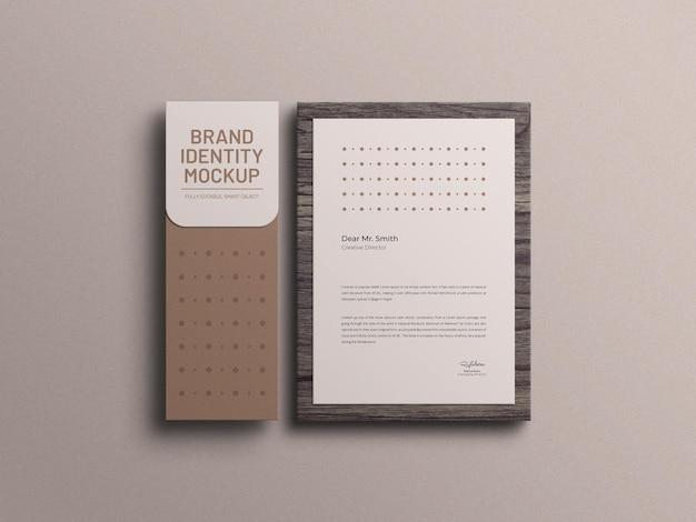 Papier firmowy z makietą koperty