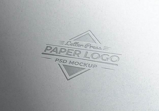 Papier listowy logo makieta teksturowane papier