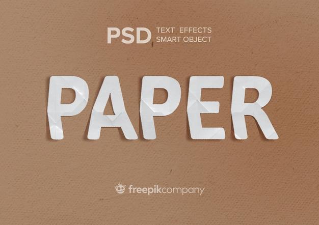 Papier z efektem tekstu