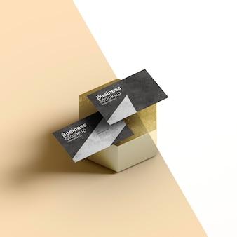 Papiernicze wizytówki na abstrakcyjny kształt plastra miodu