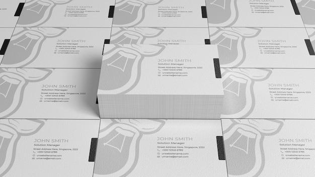 Papierowa makieta stosu wizytówek