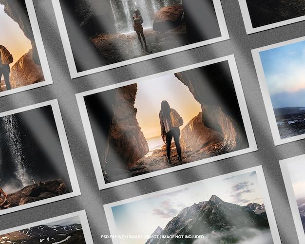Papierowa ramka na zdjęcia szablon makieta polaroid premium psd