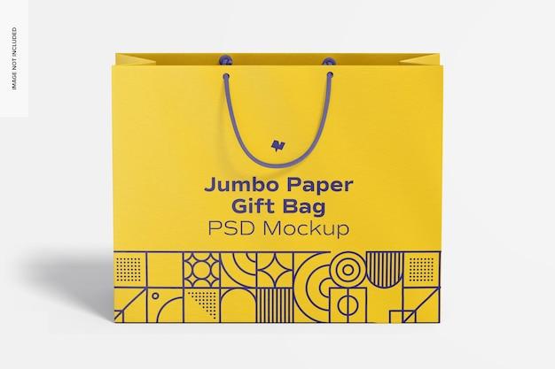 Papierowa torba prezentowa jumbo z makietą z uchwytem liny