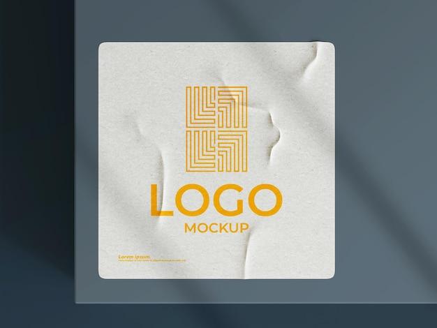 Papierowe logo makieta renderowania 3d