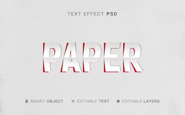 Papierowy efekt tekstowy