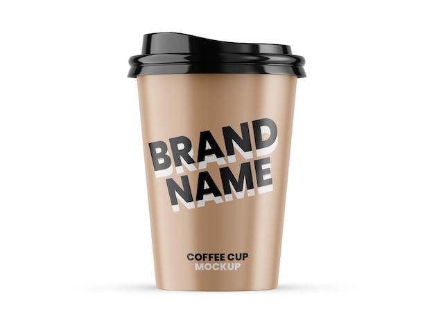 Papierowy kubek do kawy makieta szablon