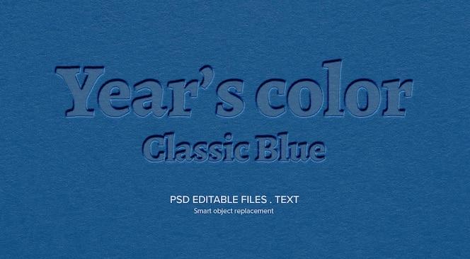 Papierowy makieta 3d efekt stylu tekstu