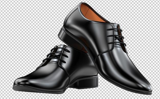 Para czarnych męskich butów w kolorze czarnym o klasycznym kroju