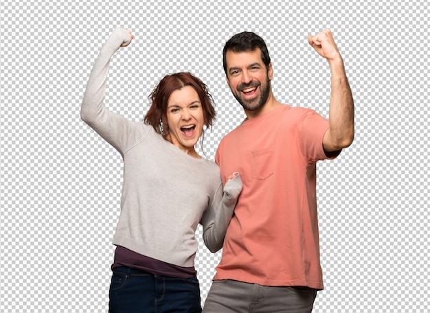 Para świętuje zwycięstwo w walentynki