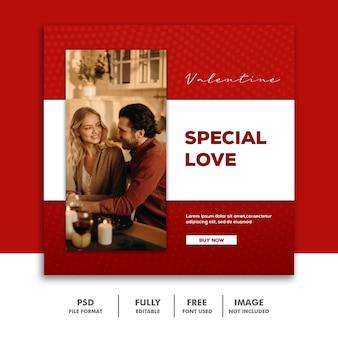 Para valentine banner social media post instagram randki specjalne