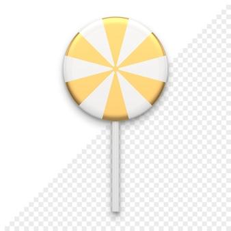 Pasiaste cukierki na kij 3d ikona