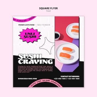 Pastelowo-neonowy szablon żywności w stylu art deco