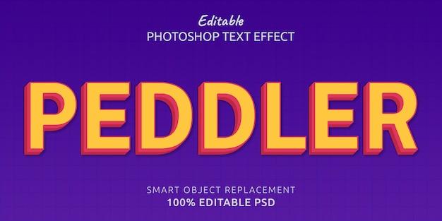 Peddler edytowalny efekt stylu tekstu