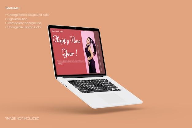Pełnoekranowa makieta laptopa