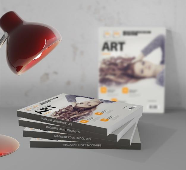 Photo-realistic magazine mockup