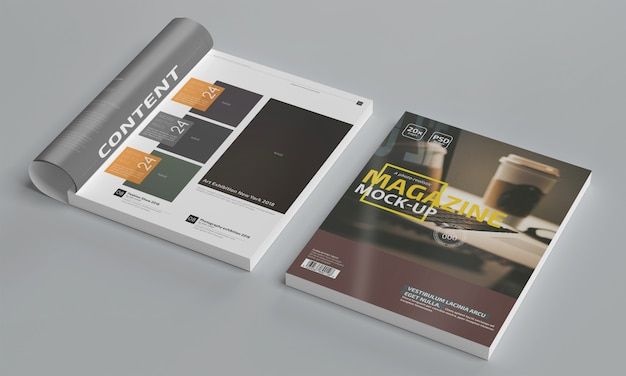 Photo-realistic magazine mockup