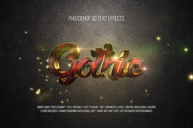 Photoshop 3d efekty tekstowe gothic
